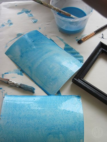 blue wash painting