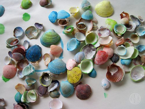 pretty painted shells