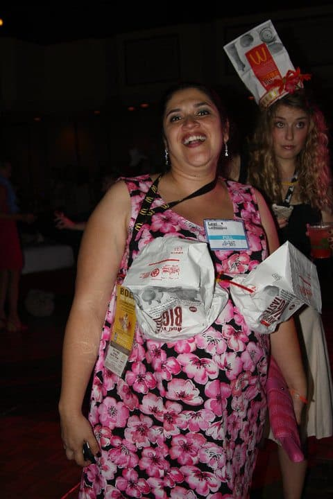 CheeseburgHer Party Bag Hat Contest