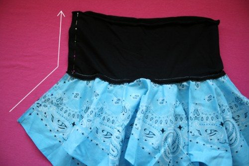 DIY Pirate Costumes for Kids and/or Talk Like a Pirate Day Craft (bandana skirt how-to 6) by Lindsey Boardman for Alphamom.com