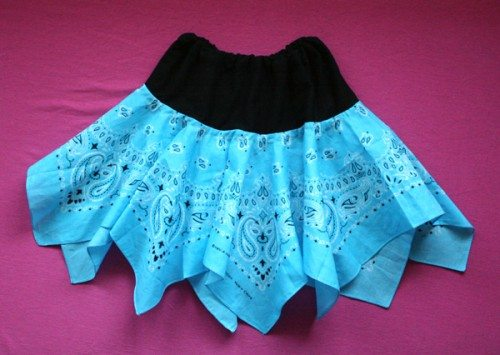 blue bandana skirt