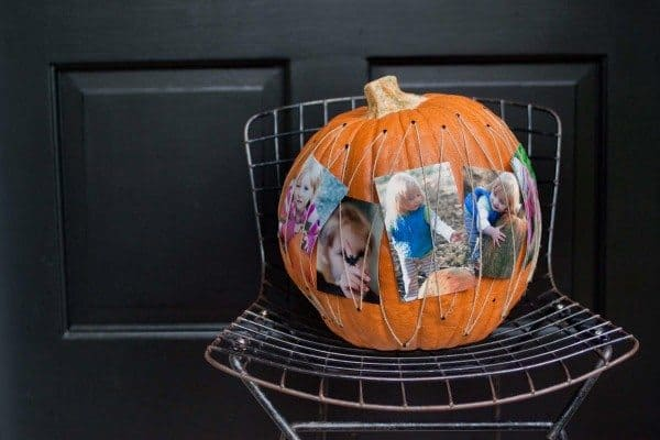 Pumpkin Photo Centerpiece holds your Autumn Memories