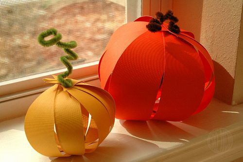 Completed Easy Paper Pumpkins by Brenda Ponnay for Alphamom.com
