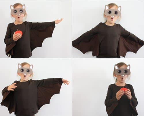 Much like my owl costume from last year this project can be made quickly is comfortable for kids to wear and itu0027s fun! It does involve a sewing machine ...  sc 1 st  Alpha Mom & Do-It-Yourself Kidu0027s Bat Costume | Alpha Mom