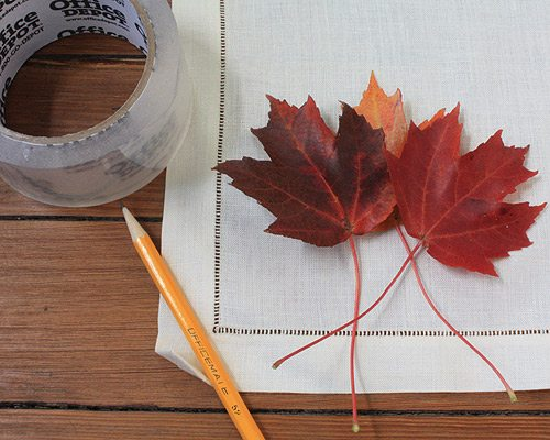 Supplies for making Fall Linens