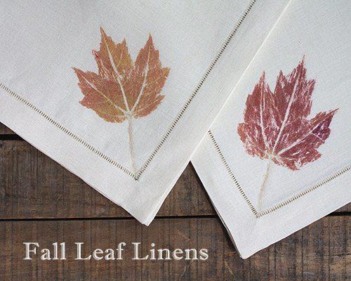 Fall Leaf Linens