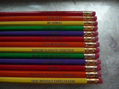 Family Manifesto Pencils