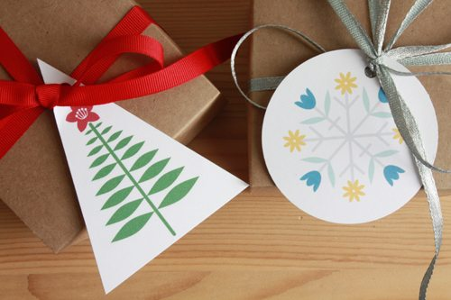 Printable Gift Tags and Wine Bottle Hangers