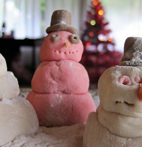 Winter Craft: Snow Dough Men!