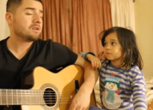 Sweet Video of Dad and Daughter singing Home | Alpha Mom