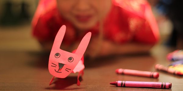 chinese new year craft: year of the rabbit printable! kids craft ideas