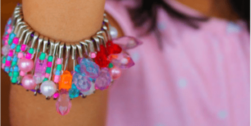 Valentine's Day Craft Safety Pin Bracelet