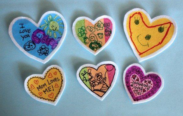 Homemade Felt Valentine Patches