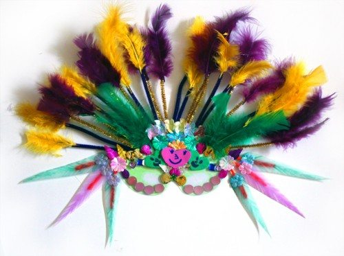 DIY Mardi Gras Masks for Kids