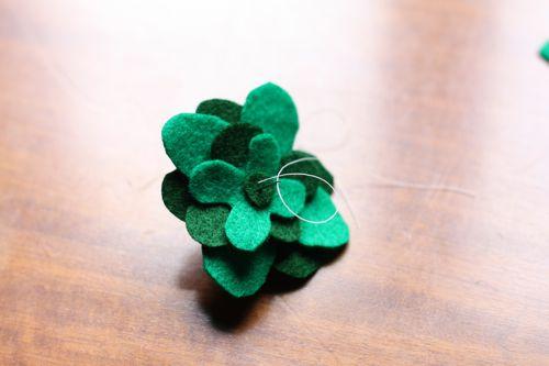 four-leaf clover felt accessory