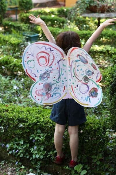 How to make butterfly costume wings - photo#2