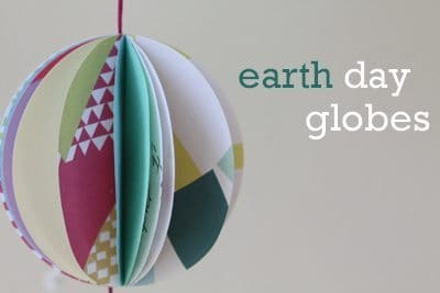 Earth day paper globe