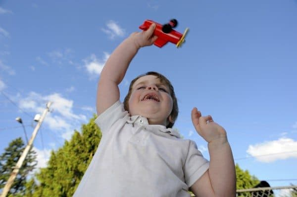 Toddler Throwing Toys & Food