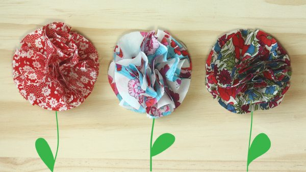 DIY Flower Hair Clips for May