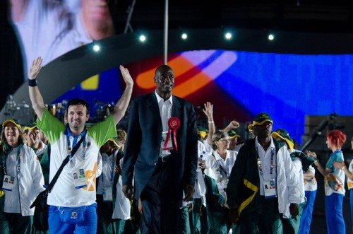 Special Olympics Opening Cermonies Dikembe Mutombo