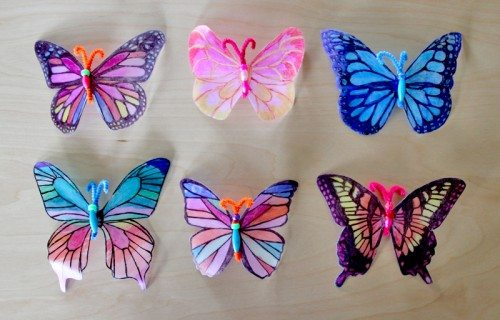 Milk Jug Butterflies Craft