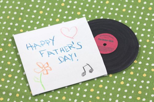 Father's Day Craft Vinyl Record