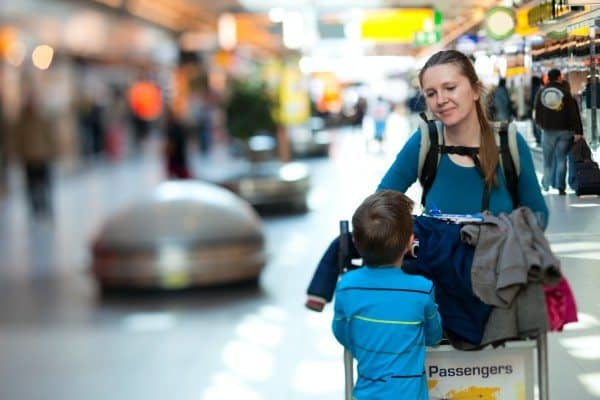 Managing Children at Airport