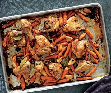Real Simple's Roasted Chicken Dinner