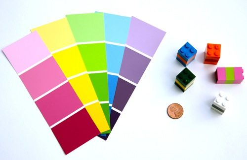 supplies for paint chip game
