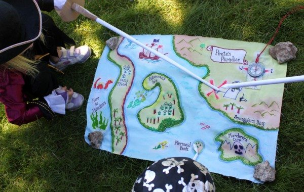 DIY Pirate Maps for Talk Like A Pirate Day