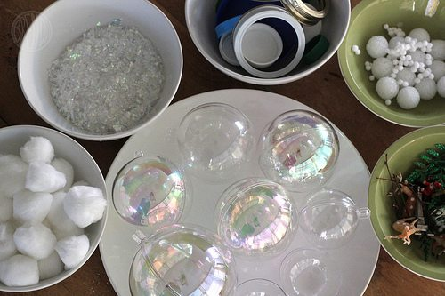 Supplies for Waterless Snow Globes