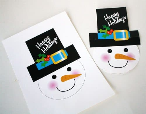 Snowman Treat Bag Toppers Printables