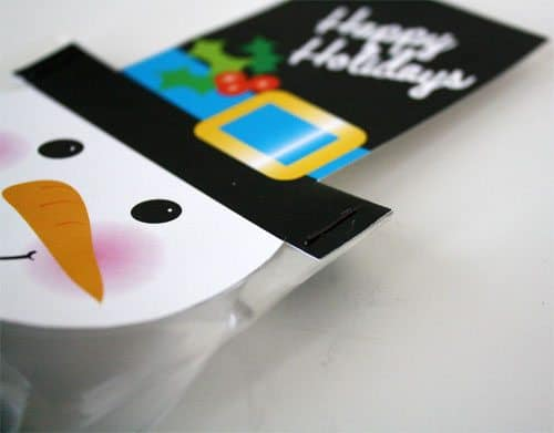 snowman photo for treat bag toppers