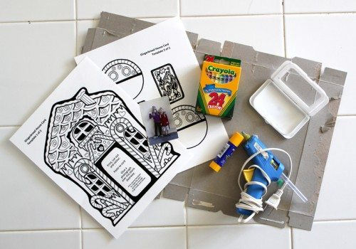Supplies for making Gingerbread House Card