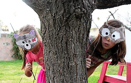 Woodland Creature Masks for Kids by Brenda Ponnay at Alphamom.com