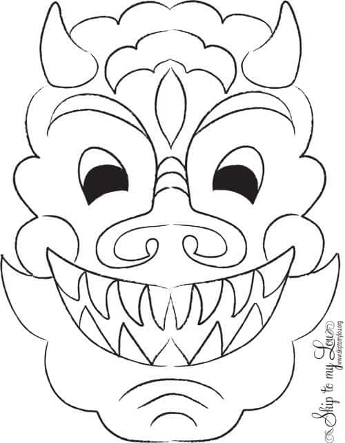 Lunar New Year Craft Dragon Mask