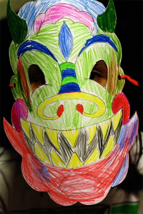Chinese New Year Craft: Dragon Mask