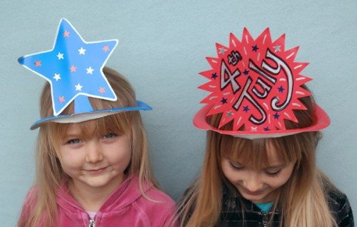 Holiday Hats for Every Occasion Made from Paper Plates (Forth of July)