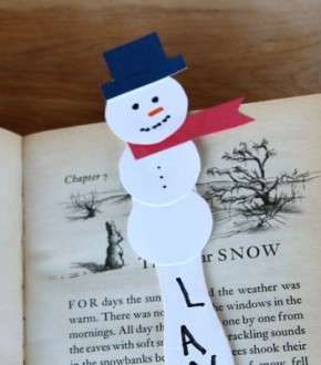 Snowman Bookmark Craft