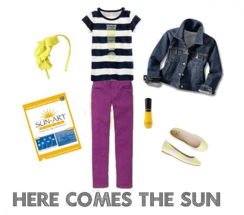 Girl's Spring Stripes