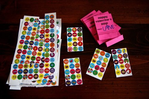 sticker sheets for matchbox valentine