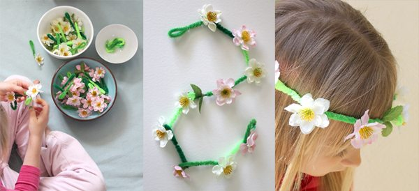 Easter Craft Daisy Chain Crown and Necklace