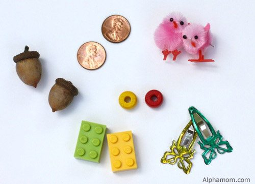 tiny objects for Easter egg matching game