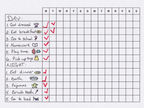 Make Morning and Bedtime Routines Easier with a Chart (Free Printable)