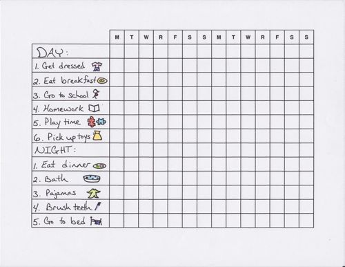 Make Morning And Bedtime Routines Easier With A Chart Free