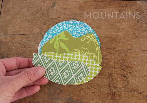 adding fabric mountains to craft