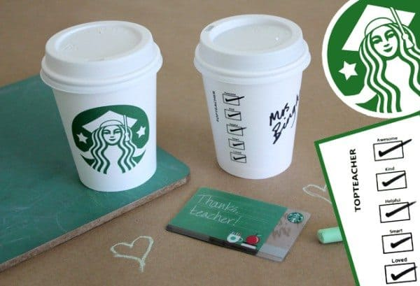 picture regarding Starbucks Printable Gift Card identify Starbucks Instructor Appreciation Do-it-yourself Reward Alpha Mother