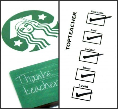 image regarding Starbucks Printable Gift Card called Starbucks Instructor Appreciation Do-it-yourself Present Alpha Mother