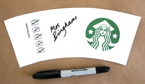Modren Starbucks Coffee Cup Sleeve Gift Card Thank You Printable V On Design Decorating
