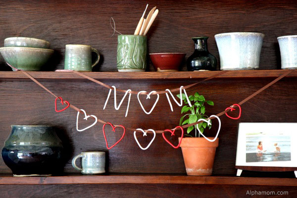 Make A Mother's Day Garland with Sculpey Clay